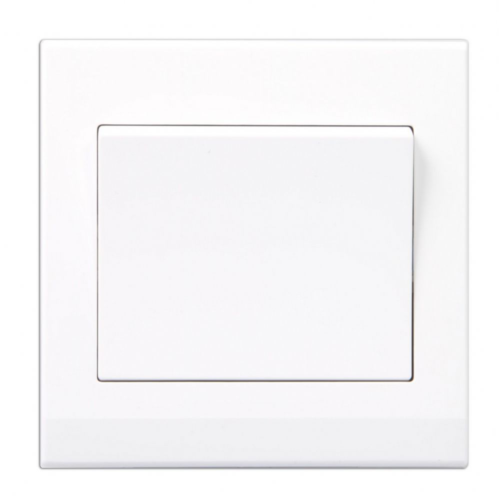 Simplicity White Screwless Rocker Light Switch 1 Gang 2 Way